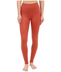 Alo Yoga High Waist Airbrushed Leggings Sunbaked Glossy Women's Casual Pants Orange