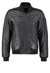 Redskins Lawton Leather Jacket Black