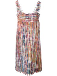 Chanel Vintage Woven Effect Dress Pink And Purple