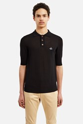 Vivienne Westwood Knitted Polo Shirt Black