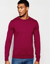 United Colors Of Benetton 100 Cotton Knitted Crew Neck Jumper Red