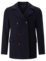 John Lewis Premium Knitted Reefer Jacket Navy