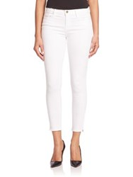 Frame Solid Slim Fit Pants White