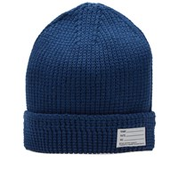 Visvim Cotton Knit Beanie Blue