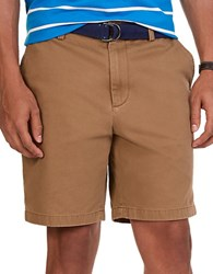 Nautica Classic Fit Twill Shorts Oyster Brown