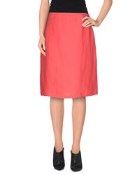 Bgn Skirts Knee Length Skirts Women Coral