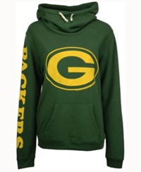 Junk Food Women's Green Bay Packers Logo Funnel Hoodie