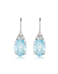 Incanto Royale Aquamarine And Diamond 18K Gold Earrings