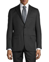 Hickey Freeman Classic Fit Two Button Suit Charcoal
