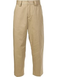 Stussy Cropped Trousers Brown
