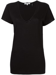Helmut Lang Scoop Neck T Shirt Black