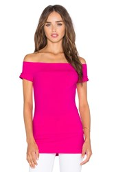 Susana Monaco Band Off Shoulder Top Pink