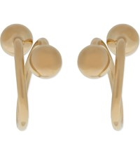 J.W.Anderson Barbell Earrings Yellow Gold