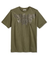 Sean John Men's Arc Eagle Graphic Print T Shirt Grape Leaf