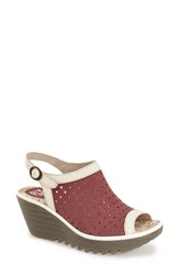 Women's Fly London 'Yile' Perforated Slingback Wedge 2 1 2' Heel