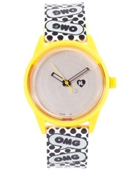 Harajuku Lovers Unisex Solar Emoji Omg Strap Watch 40Mm Hl2315
