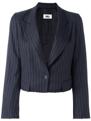 Maison Martin Margiela Mm6 Cropped Blazer Blue