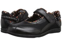 Drew Shoe Joy Black Smooth Leather Black Mesh Women's Maryjane Shoes
