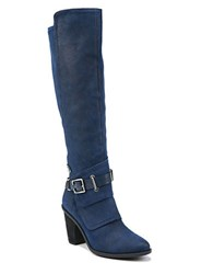 Fergie Dune Suede Knee High Boots Navy