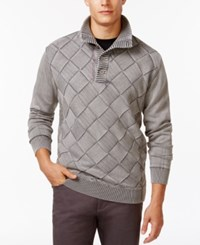 Weatherproof Stone Wash Diamond Pullover