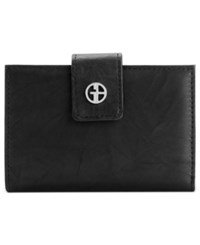 Giani Bernini Wallet Sandalwood Leather Wallet Black