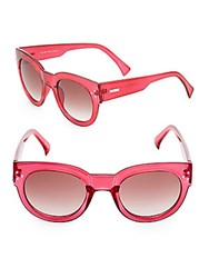 Minkpink Factory Girl 50Mm Cat's Eye Sunglasses Bright Pink