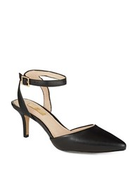 Louise Et Cie Esperance Leather Slingbacks Black
