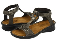 Naot Footwear Cymbal Metal Leather Women's Sandals Gray