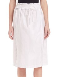 3.1 Phillip Lim Striped Hoosier Skirt White Black