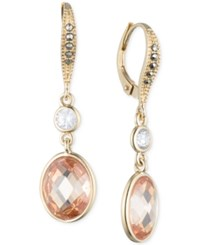 Judith Jack 10K Gold Plated Sterling Silver Champagne Crystal And Marcasite Drop Earrings