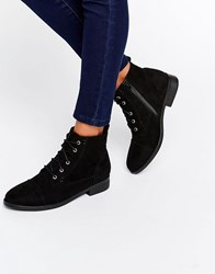 Head Over Heels By Dune Paola Black Lace Up Boots Black