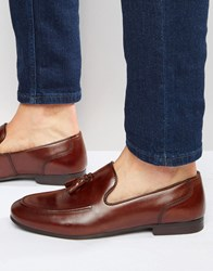 Red Tape Tassel Loafers In Brown Leather Brown