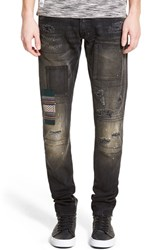Men's Prps 'Fury' Skinny Fit Patchwork Jeans Vulture
