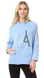 Jour Ne Hooded Sweatshirt Baby Blue