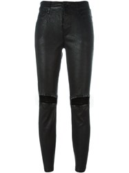 Rta Distressed Leather Pants Black