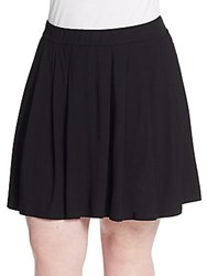 Eileen Fisher Plus Size Pleated Skirt Black