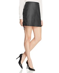 French Connection Rebound Lace Up Skirt 100 Bloomingdale's Exclusive Black