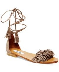 Steve Madden Women's Sweetyy Lace Up Flat Sandals Women's Shoes Blush Suede