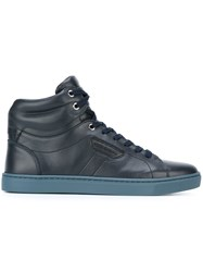 Dolce And Gabbana 'London' Hi Top Sneakers Blue