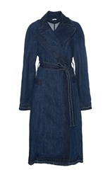 Tome Denim Trench Coat Blue