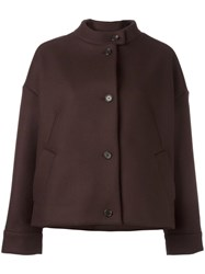 Aalto Cropped Oversized Coat Brown