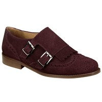 John Lewis Collection Weekend By Grata Monk Shoes Burgundy