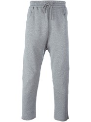 Amen Cropped Track Pants Grey