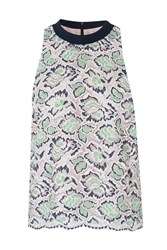 French Connection Boccara Sleeveless Lace Top Green