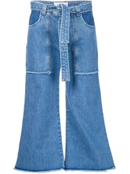 Victoria Victoria Beckham Patch Pocket Jeans Blue