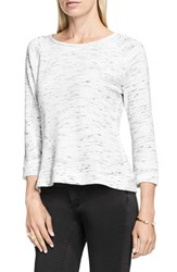 Vince Camuto Women's Two By Space Dye Terry Pullover