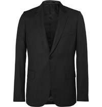 Paul Smith Grey Soho Slim Fit Prince Of Wales Checked Wool Suit Jacket Black