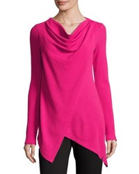 Marc New York Asymmetric Draped Tunic Fuchsia
