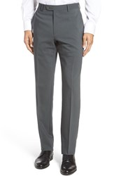 Santorelli Men's Flat Front Travel Trousers Brown