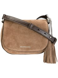 Michael Michael Kors 'Elyse' Saddle Bag Brown